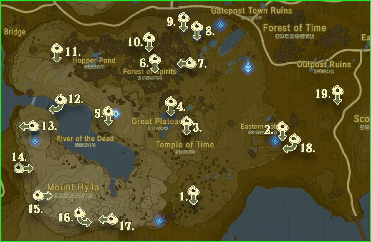 High Resolution Botw Korok Seeds Map