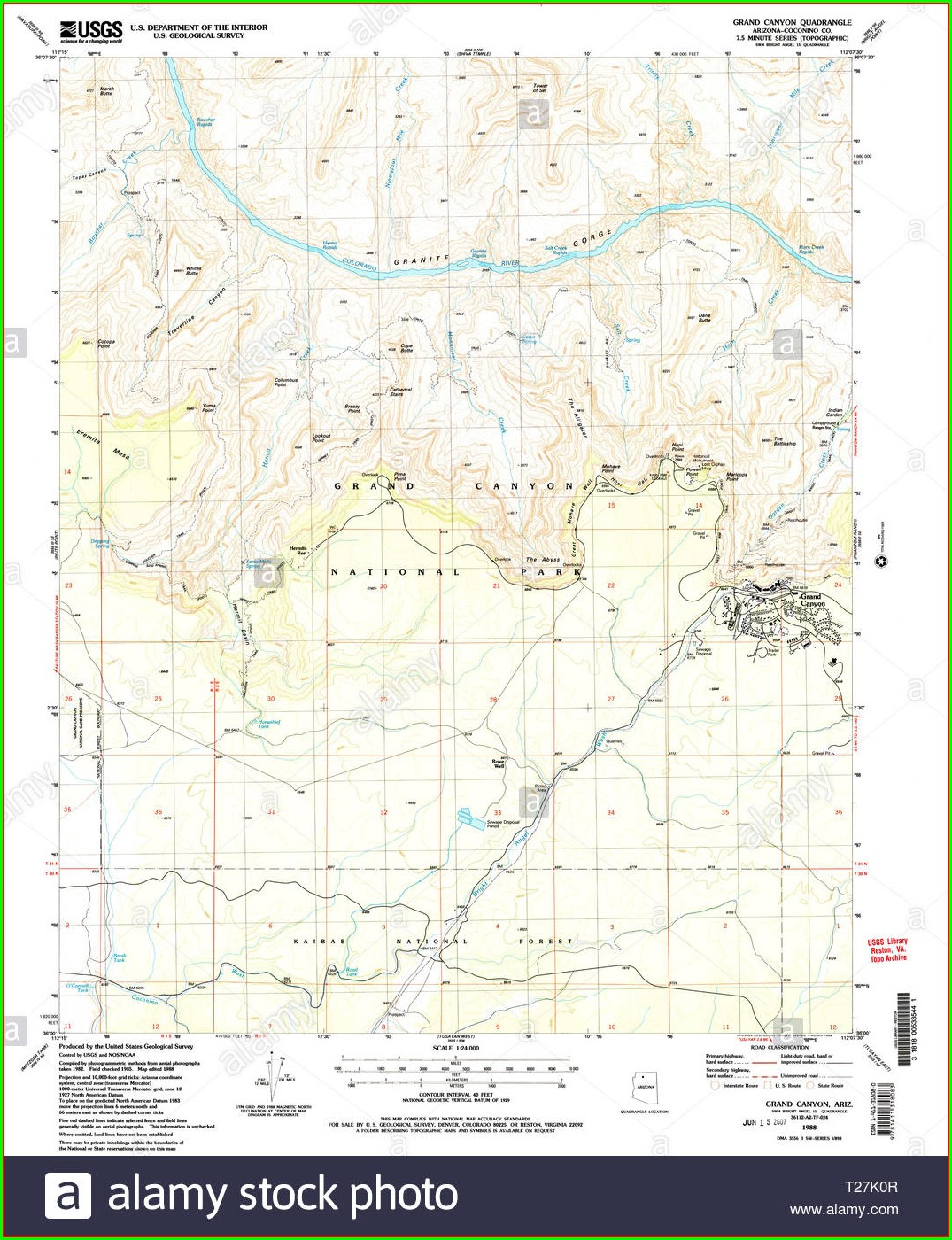 High Resolution Grand Canyon Topographic Map