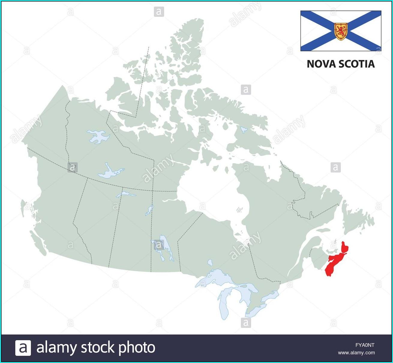 High Resolution Nova Scotia Map Outline