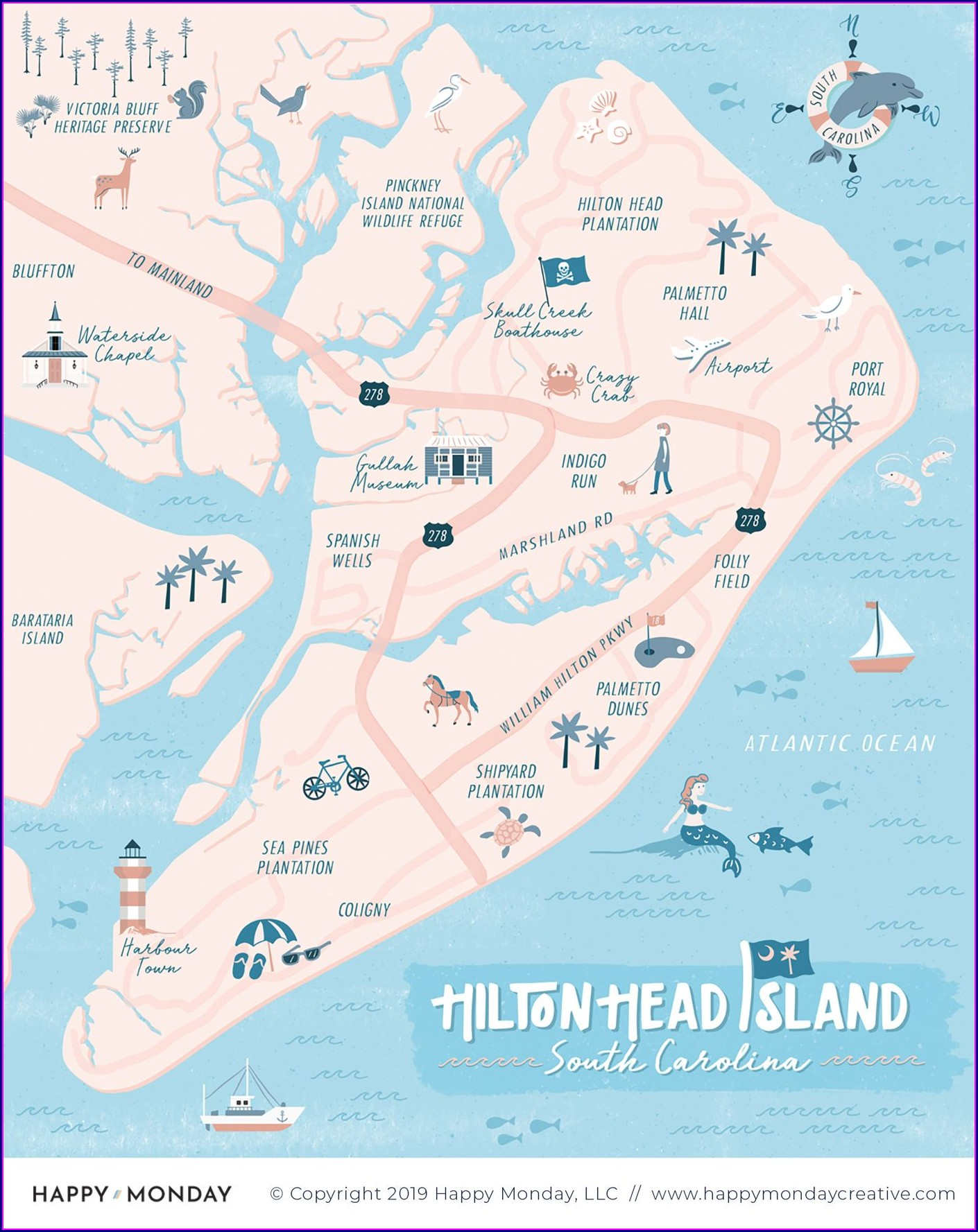 Hilton Head Bike Trails Map