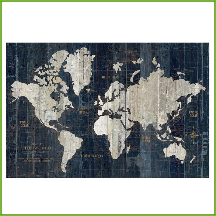 Hobby Lobby World Map Poster