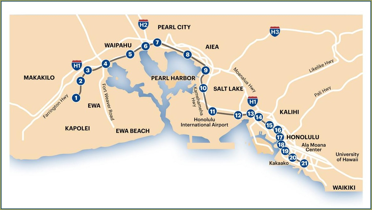 Honolulu Rail Transit Project Map