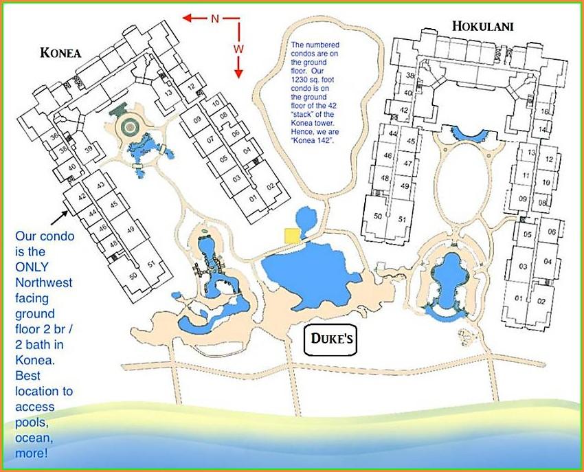 Honua Kai Building Map