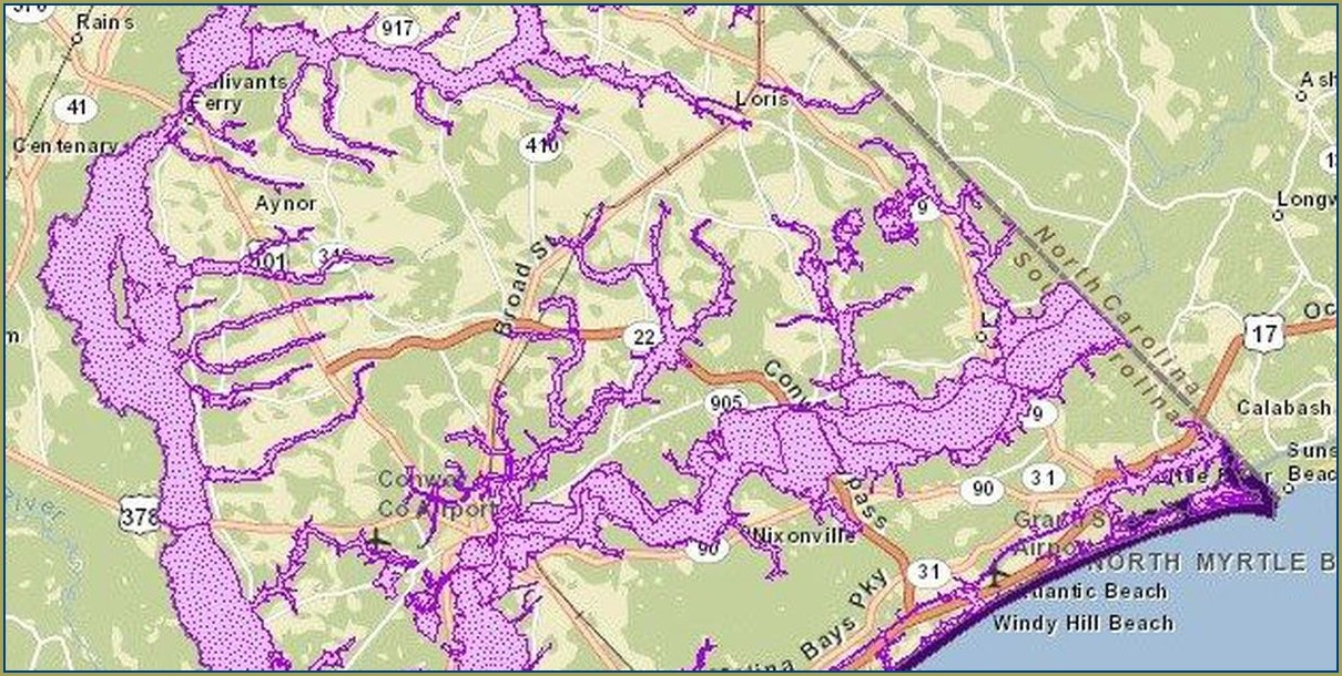 Horry County Flood Maps View