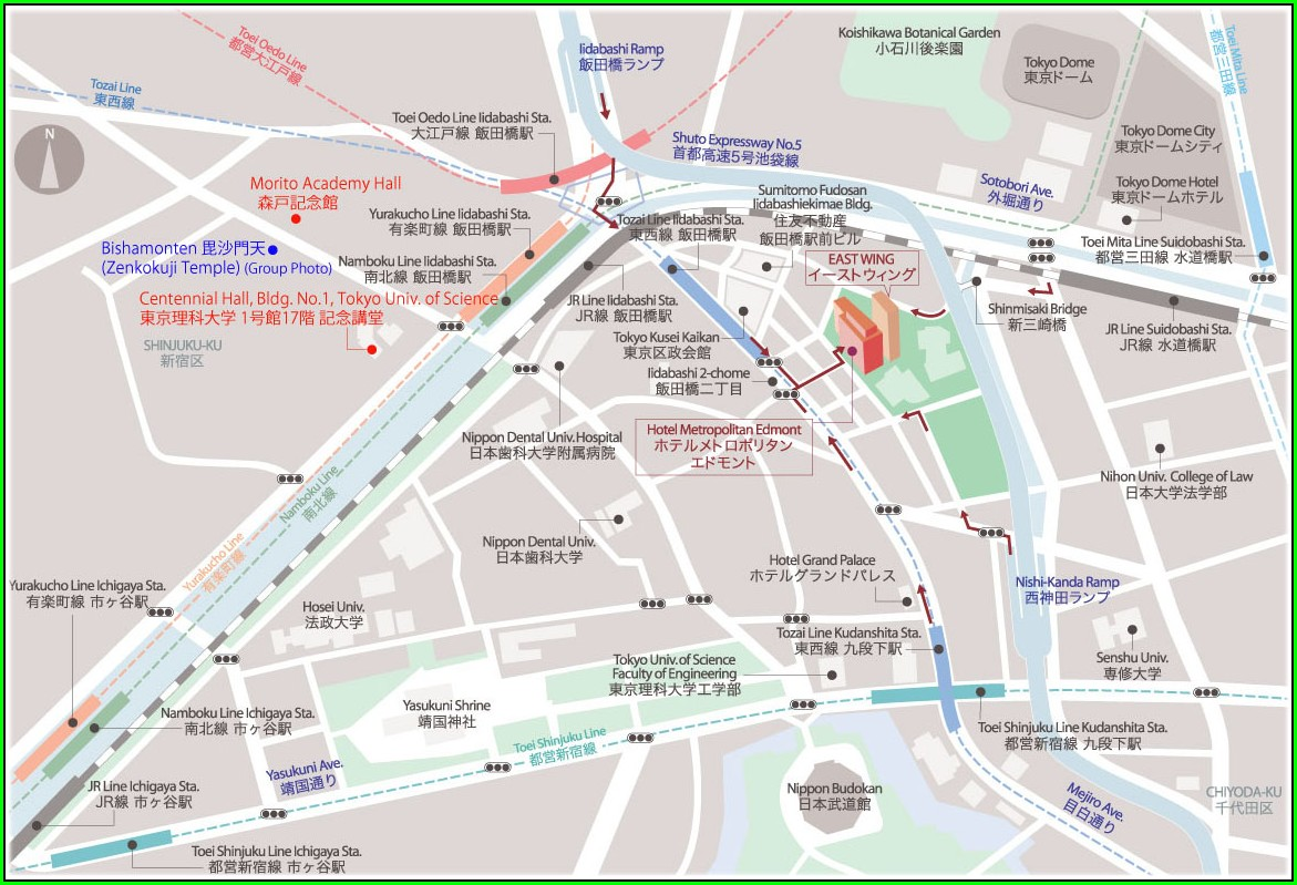 Hotel Metropolitan Edmont Tokyo Map