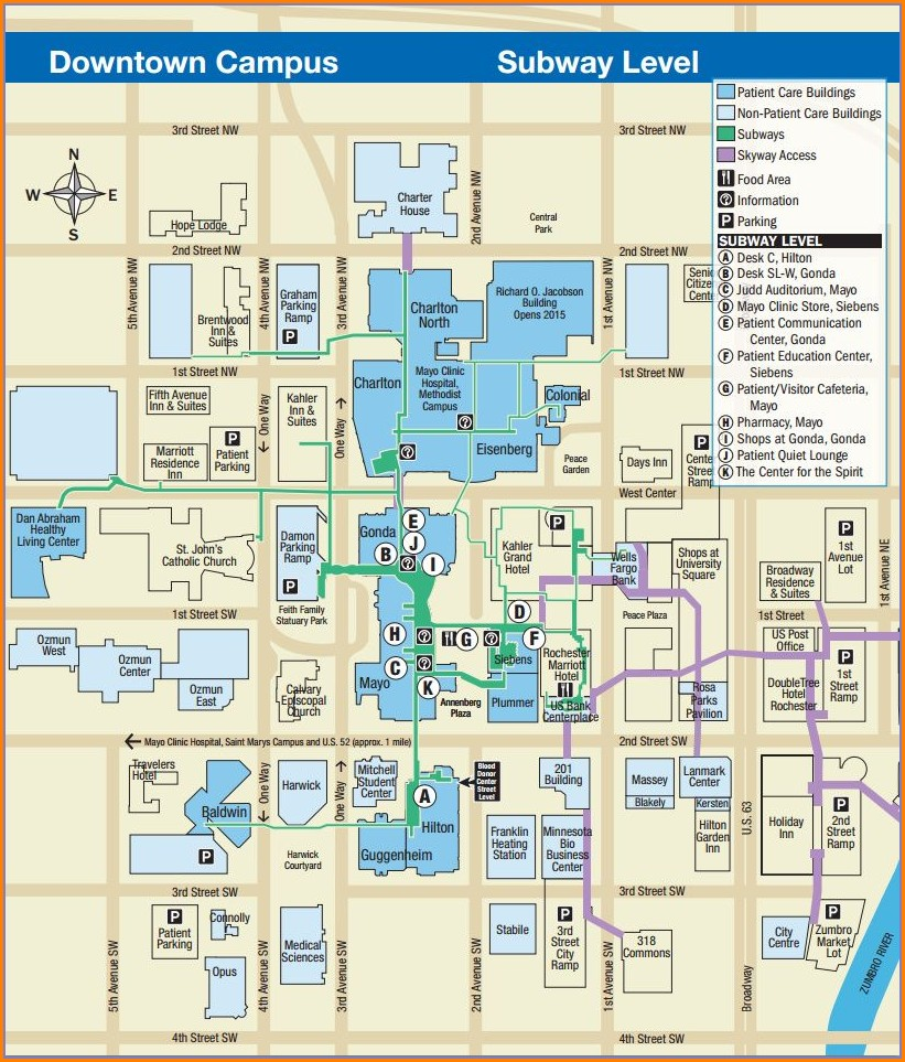 Hotels Near Mayo Clinic Rochester Mn Map