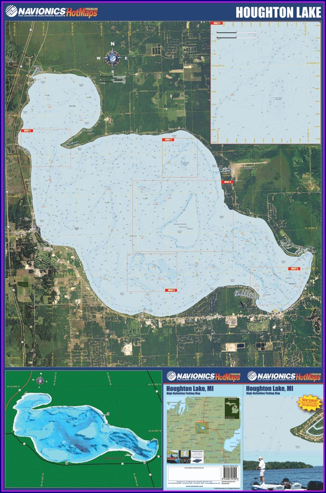 Houghton Lake Mi Depth Map