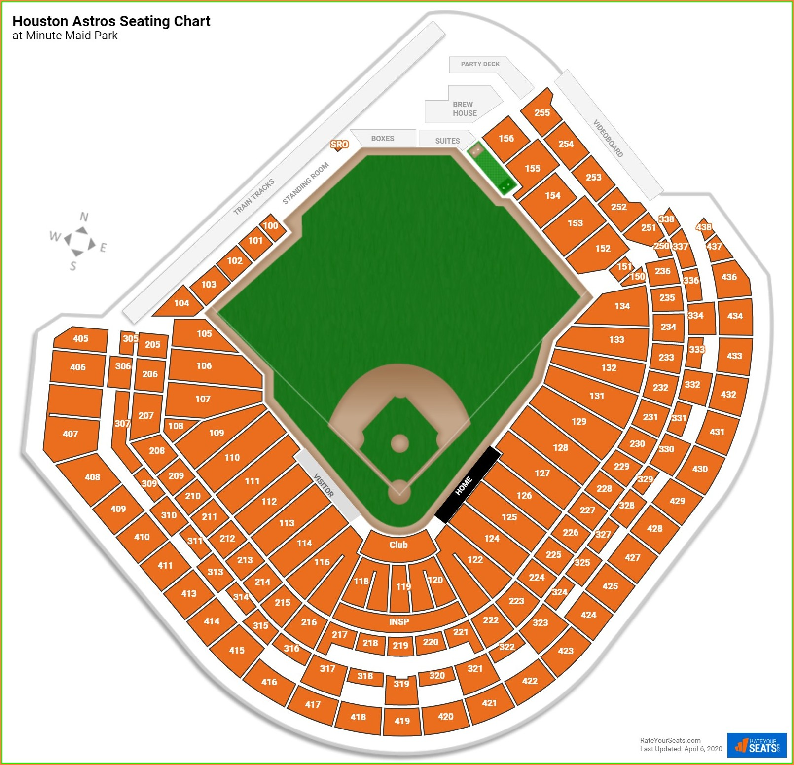 Houston Astros Seat Map