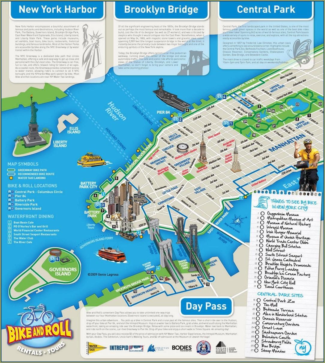 Hudson River Greenway Map