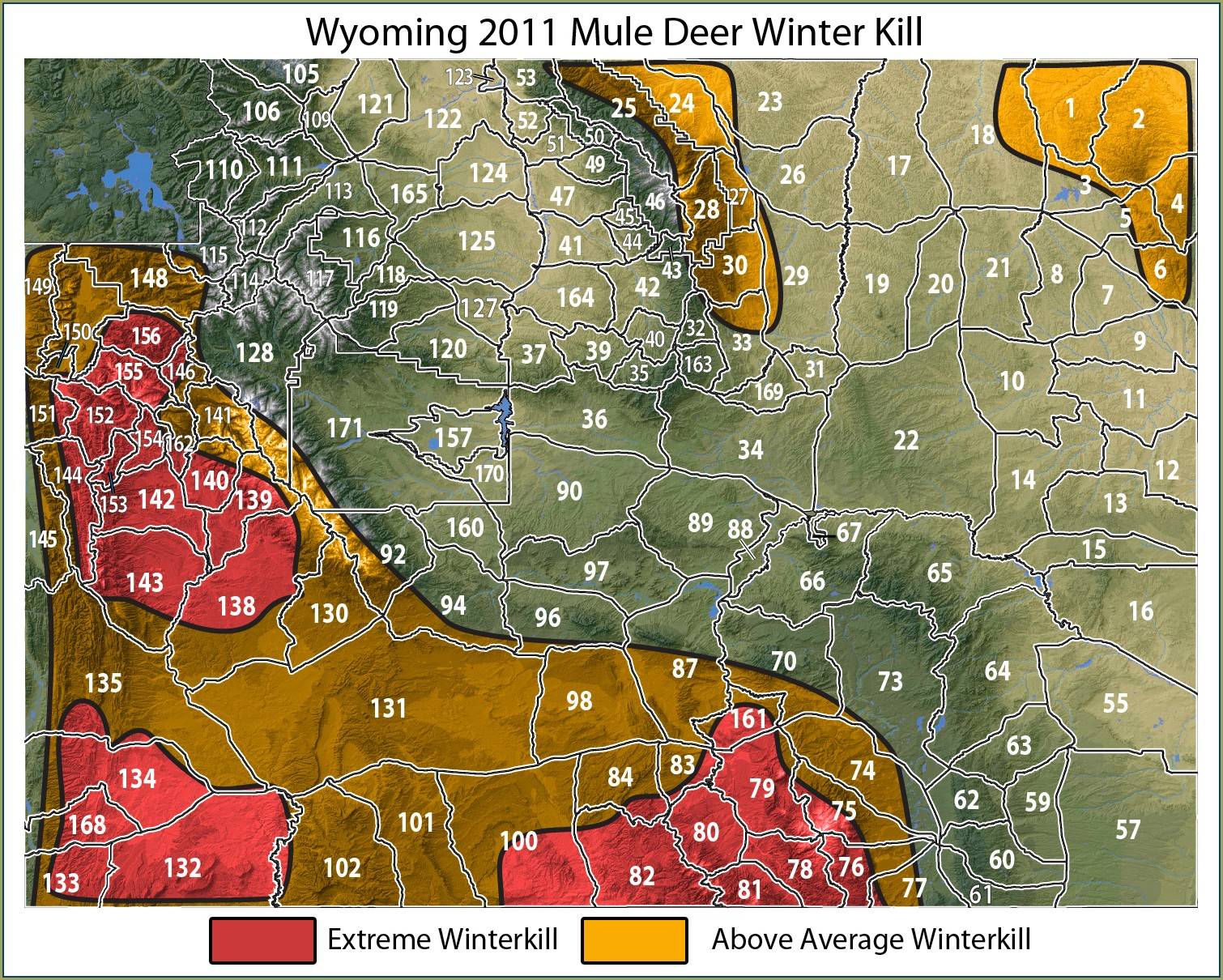 Hunting Zone Wyoming Deer Unit Map