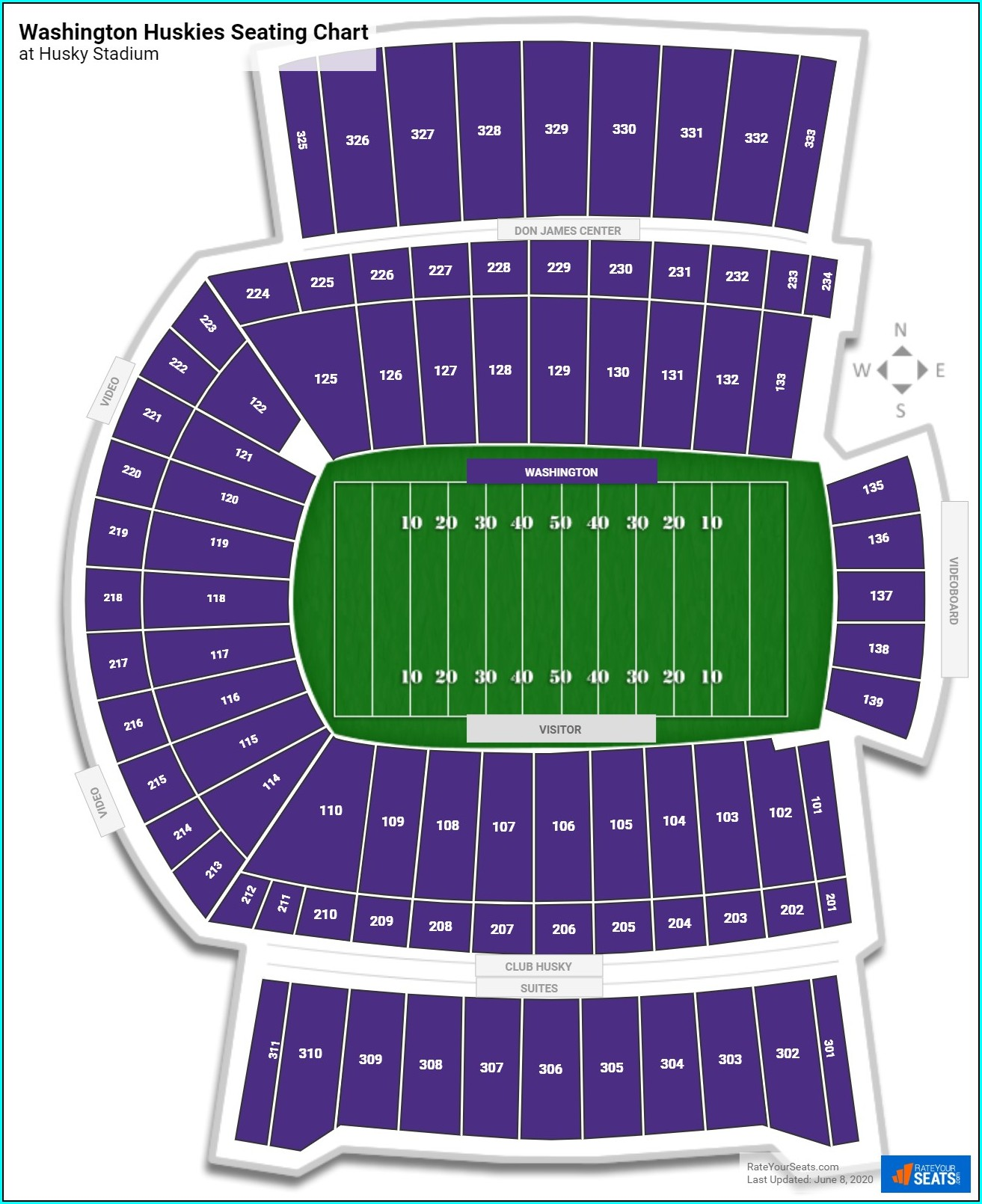 Husky Stadium Virtual Seating Map