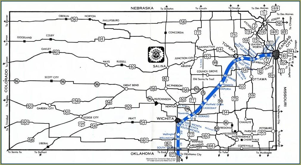 I 35 Mile Marker Map Kansas
