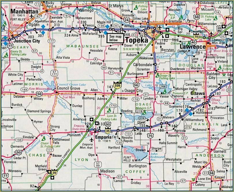 I 70 Mile Marker Map Kansas