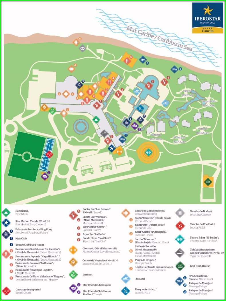 Iberostar Cancun Resort Map