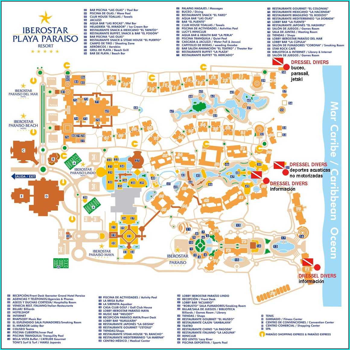 Iberostar Grand Paraiso Resort Map
