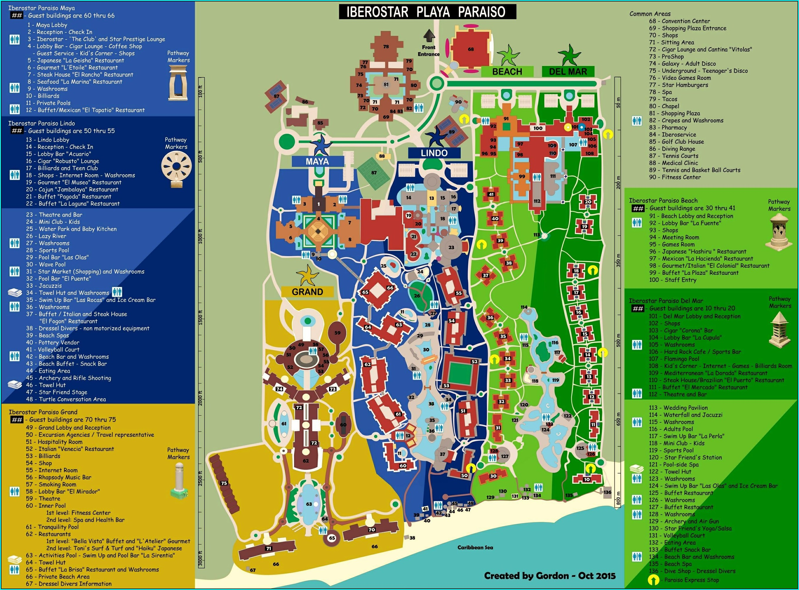 Iberostar Paraiso Lindo Resort Map