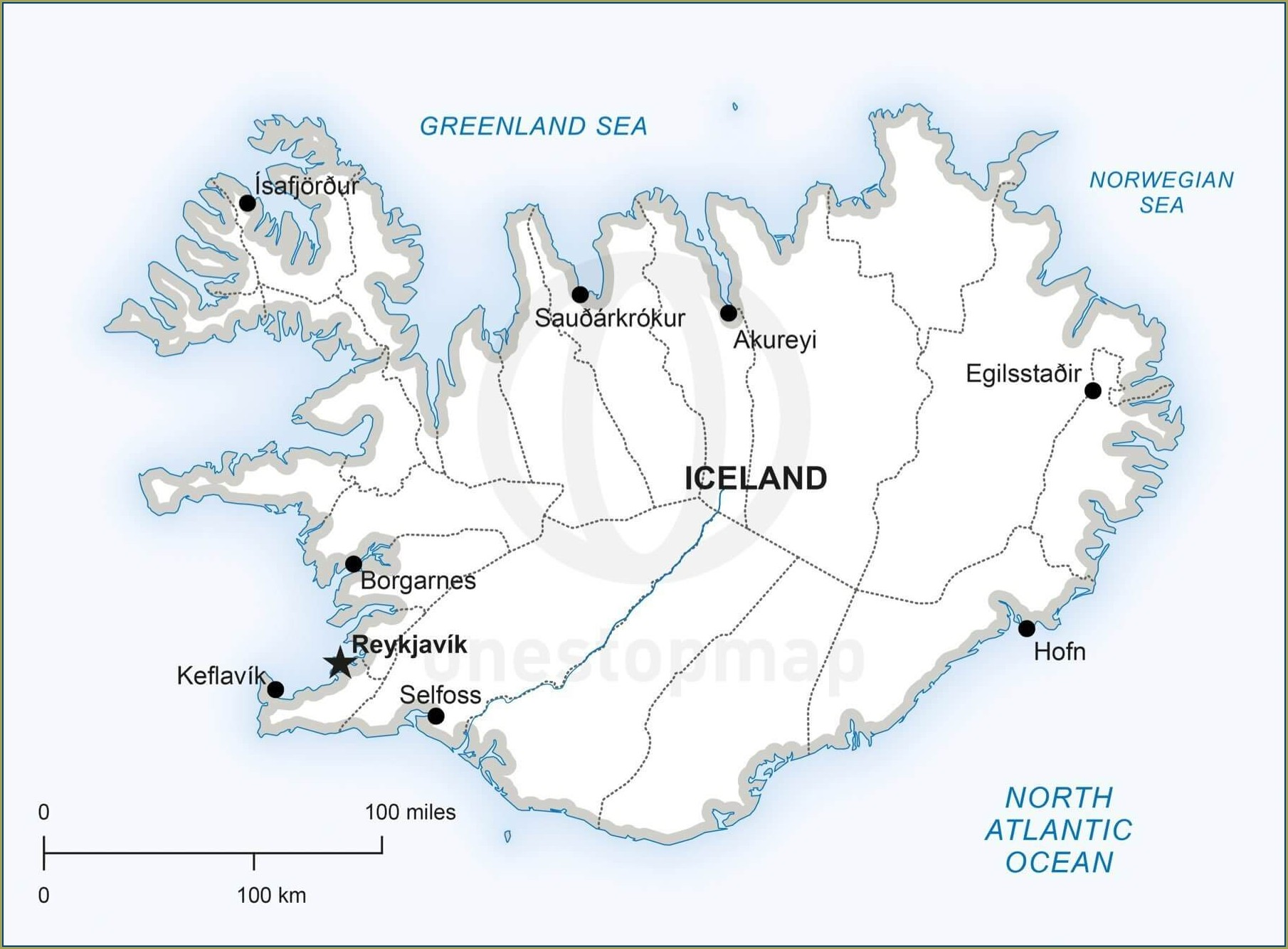 Iceland Golden Circle Map Pdf