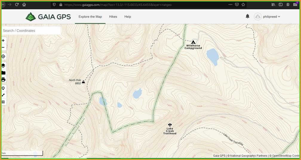 Idaho Centennial Trail Map