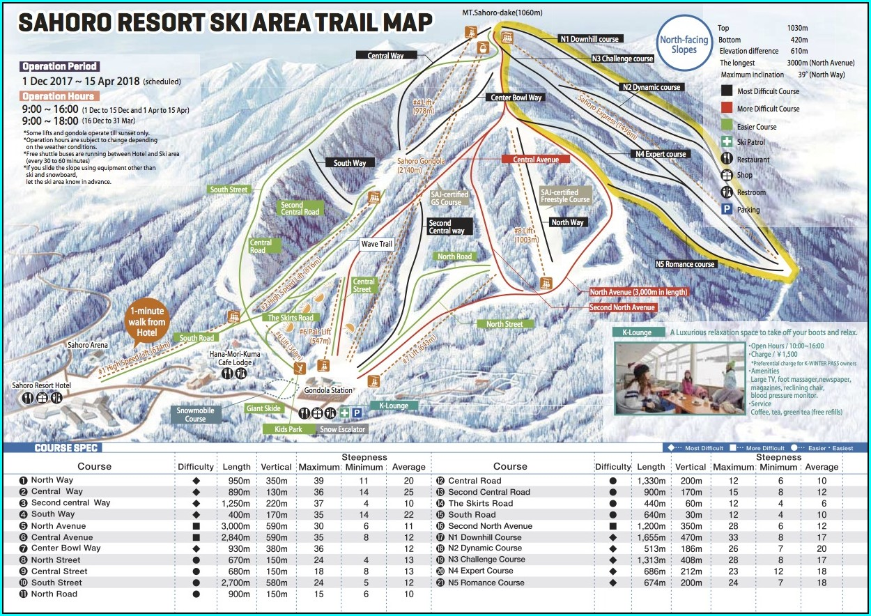 Indiana Ski Resorts Map