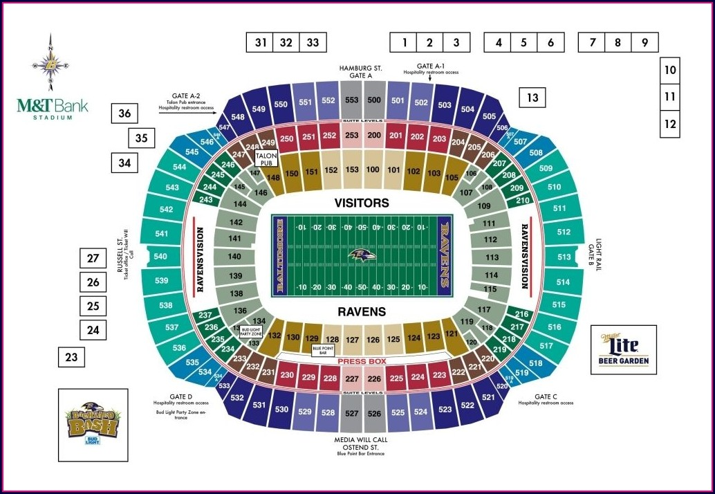 Interactive Broncos Stadium Seating Map