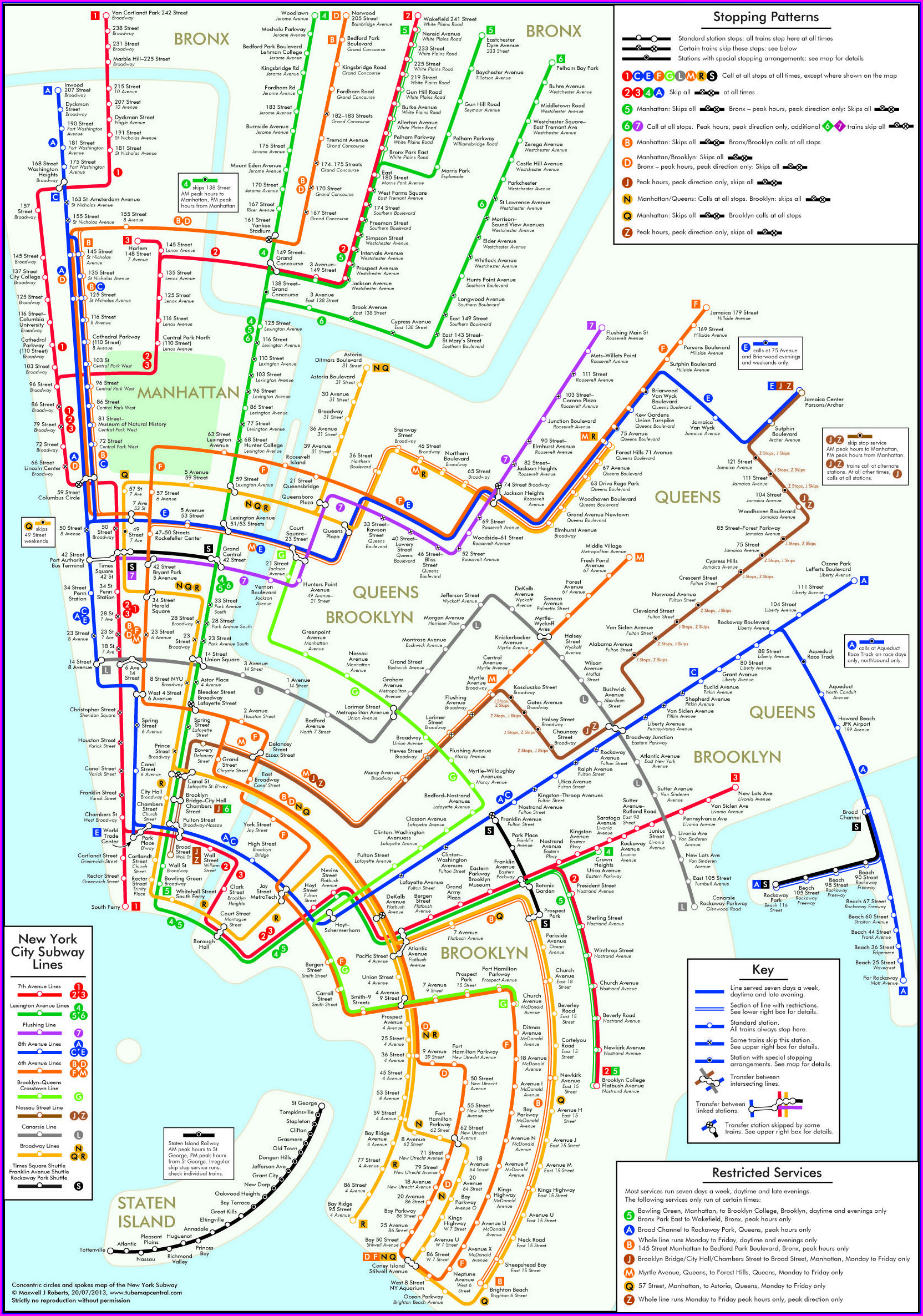 Interactive Nyc Subway Map With Streets