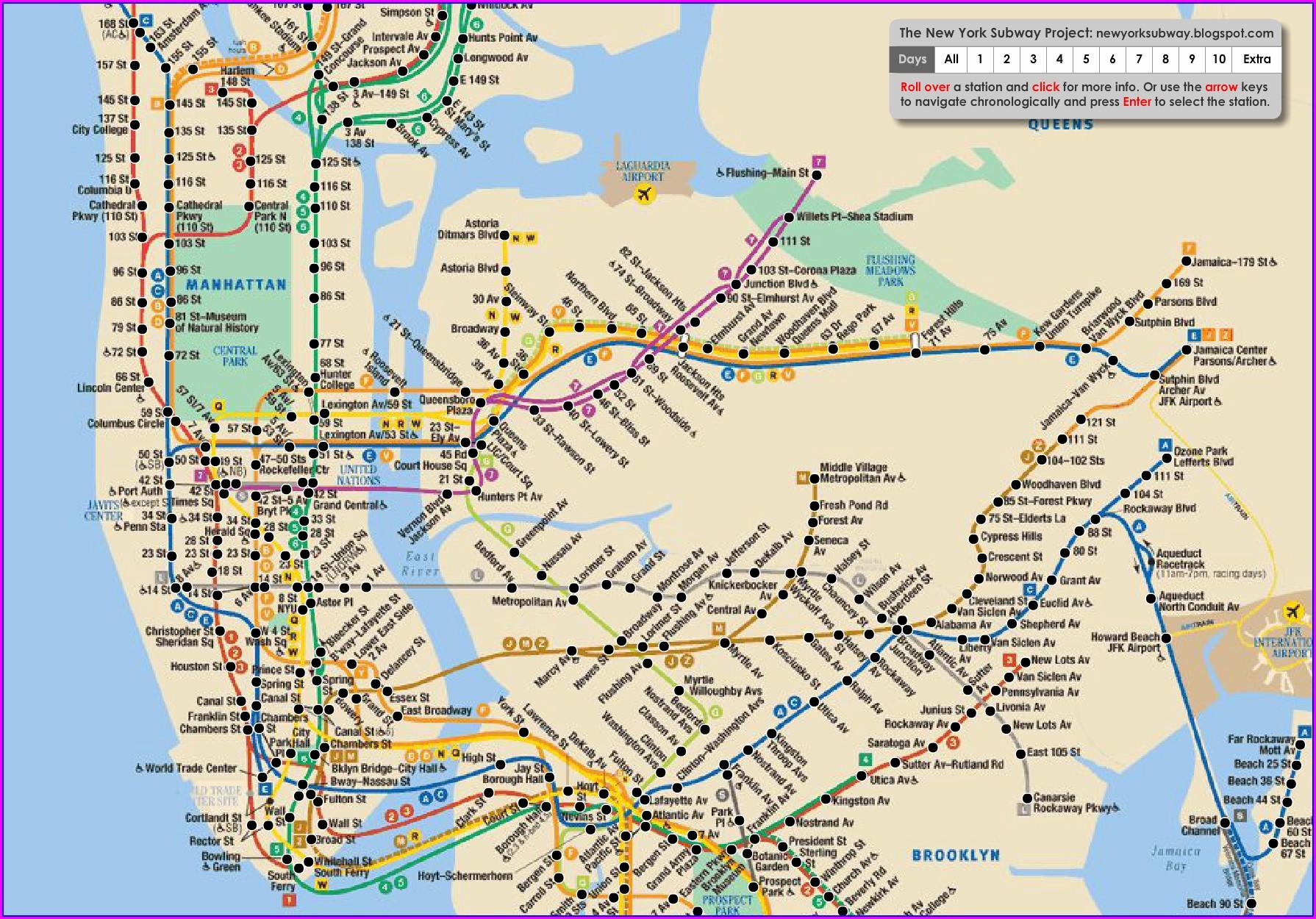 Interactive Nyc Subway Map