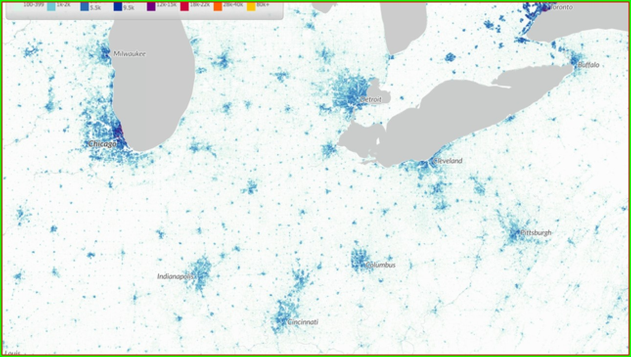 Interactive Population Density Map