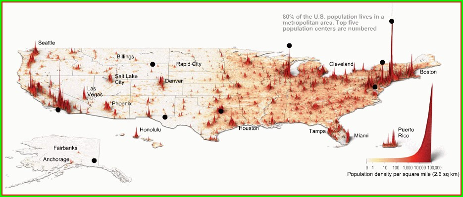 Interactive Us Population Density Map