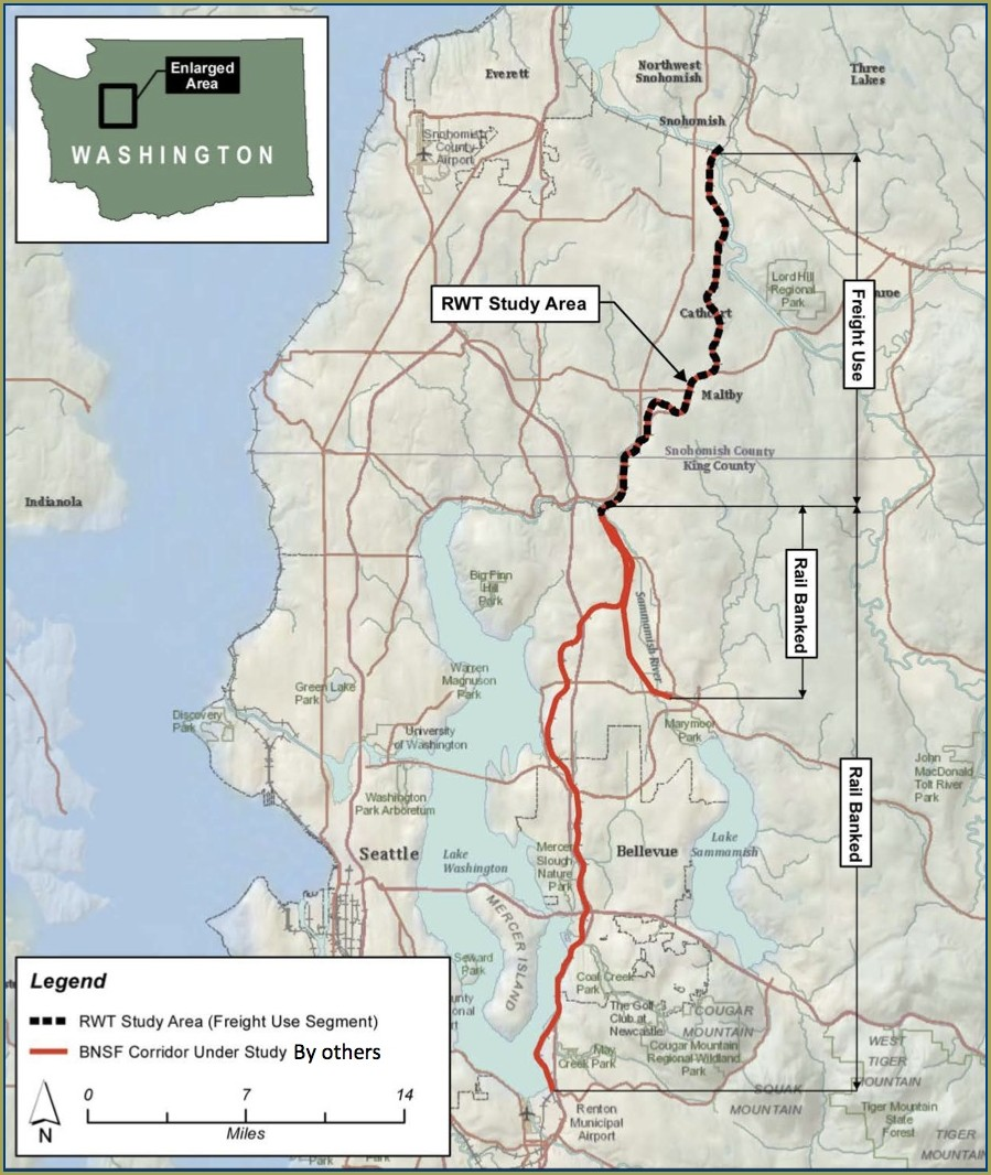 Interurban Trail Map King County