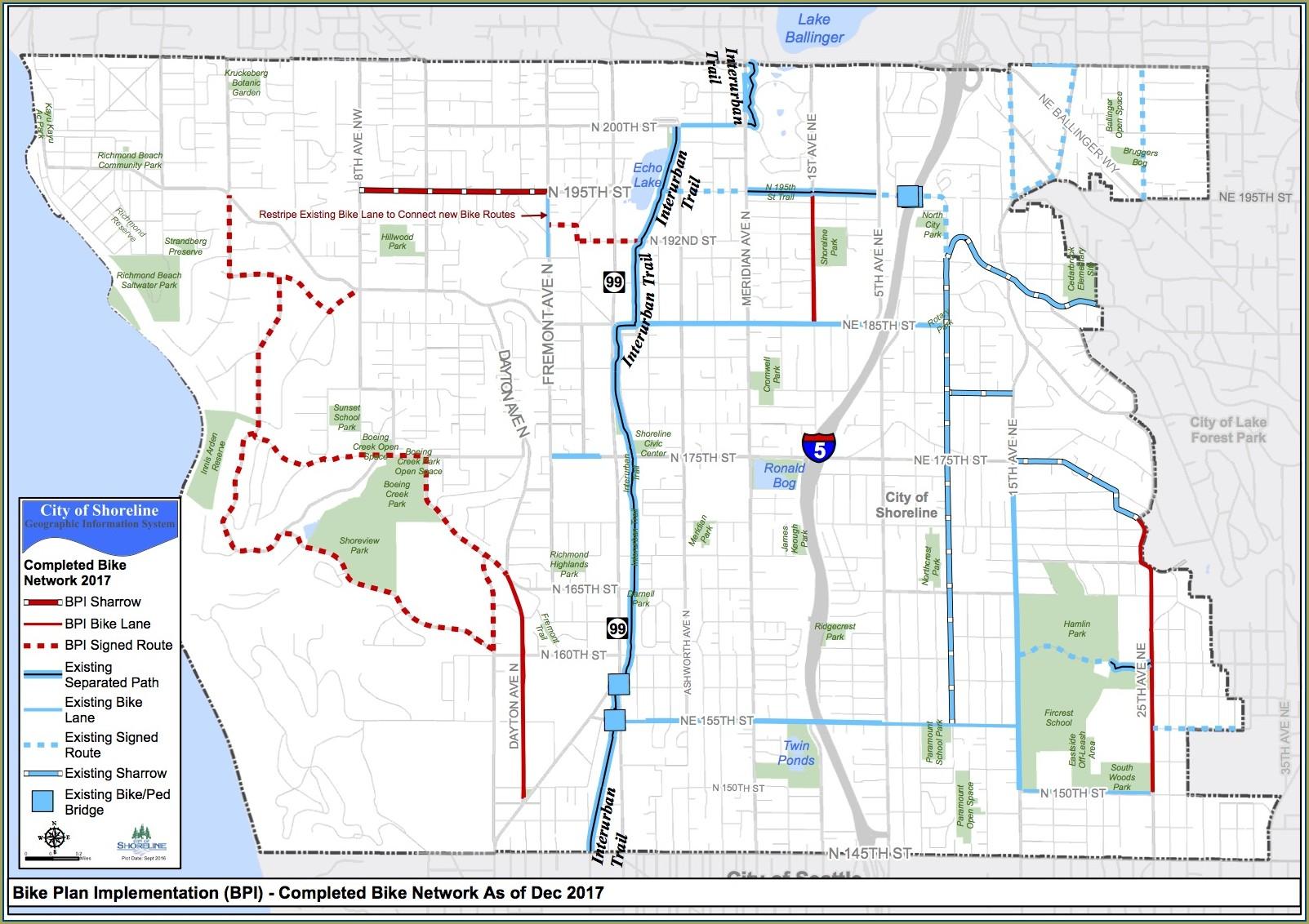 Interurban Trail Map Shoreline