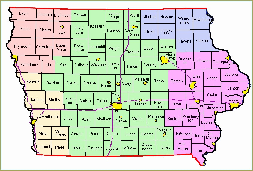 Iowa Weather Warnings Map