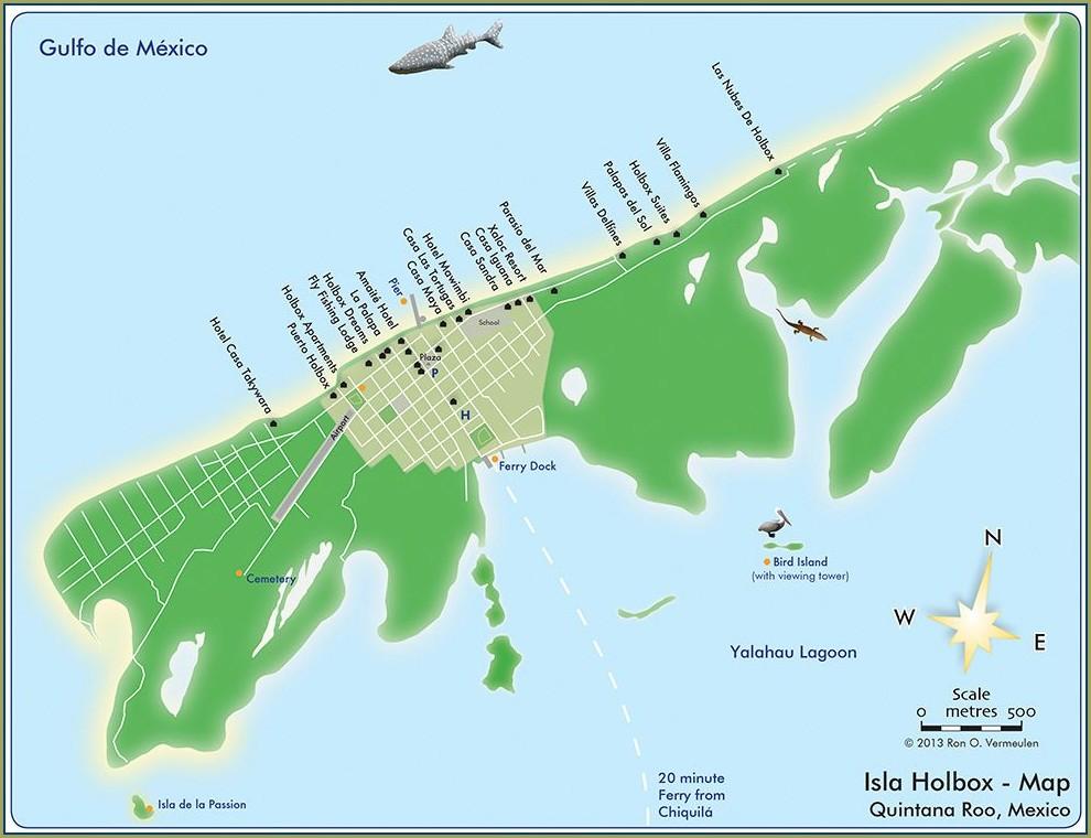 Isla Holbox Mexico Map