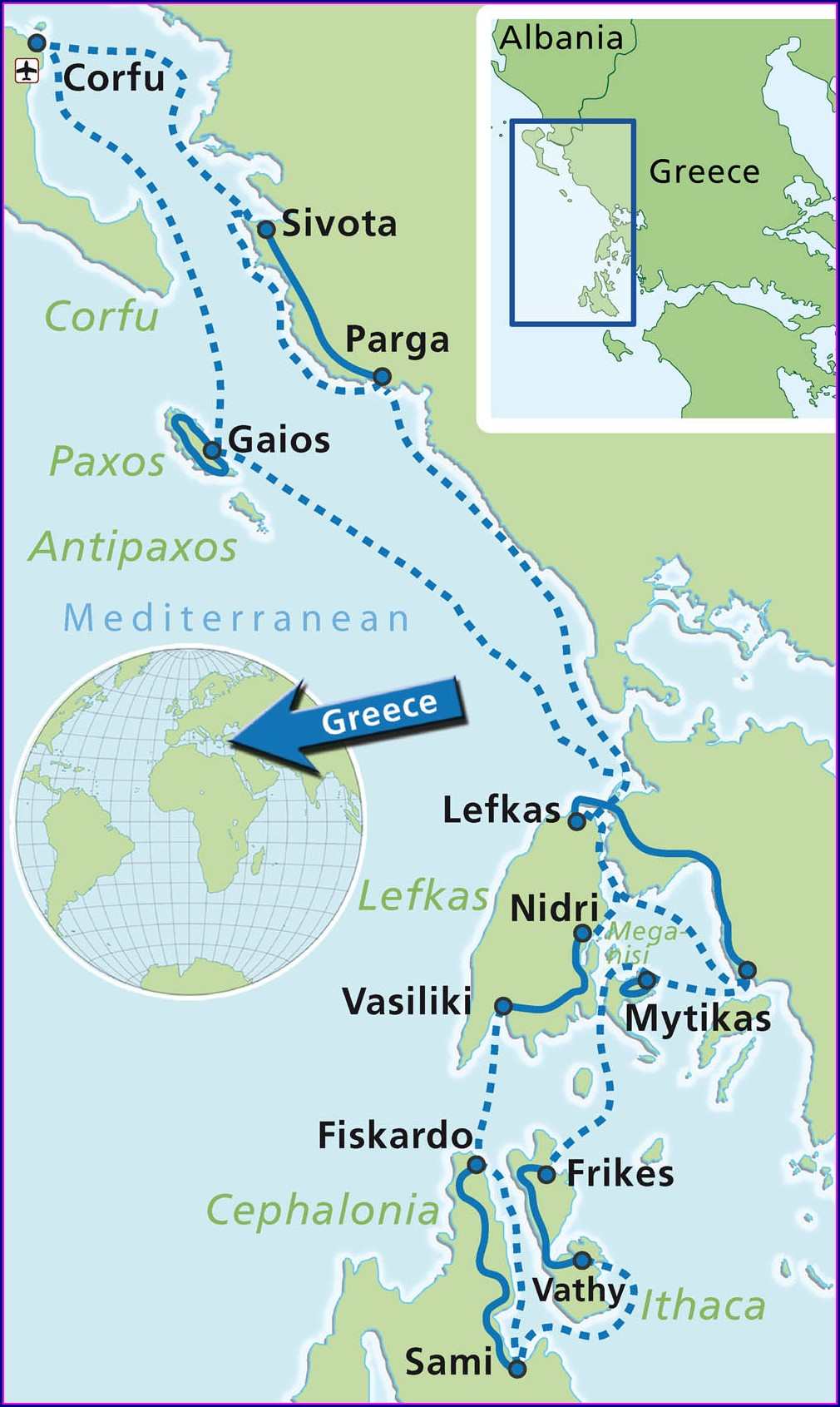 Island Hopping Map Of Greek Islands Ferry Routes