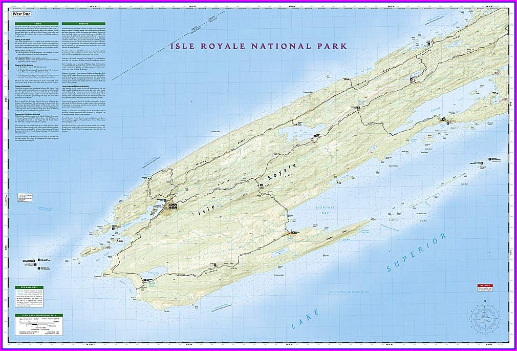 Isle Royale Trail Map Distances