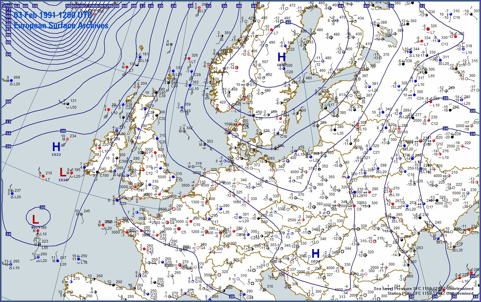 Isobar Weather Map Europe