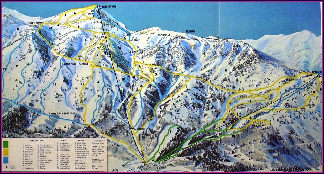 Jackson Hole Backcountry Map