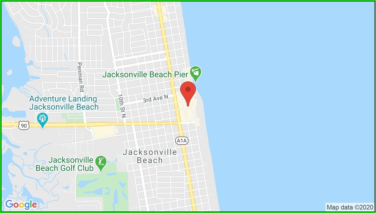 Jacksonville Beach Hotel Map