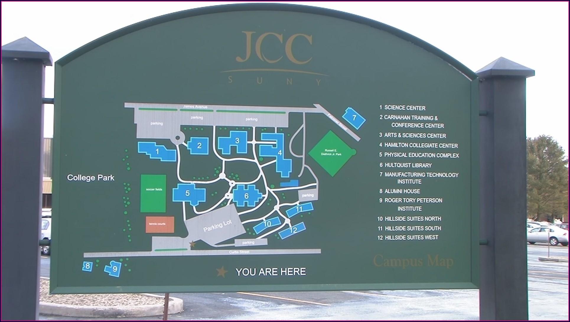 Jcc Campus Map Jamestown Ny