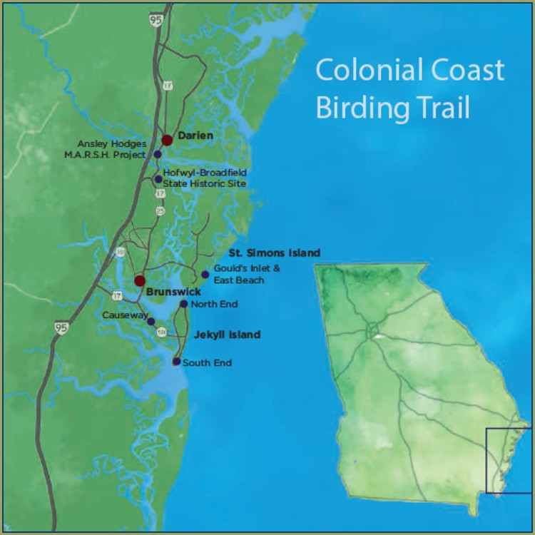 Jekyll Island Map Of Georgia Coast