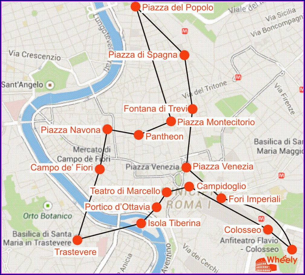 Jewish Ghetto Rome Map