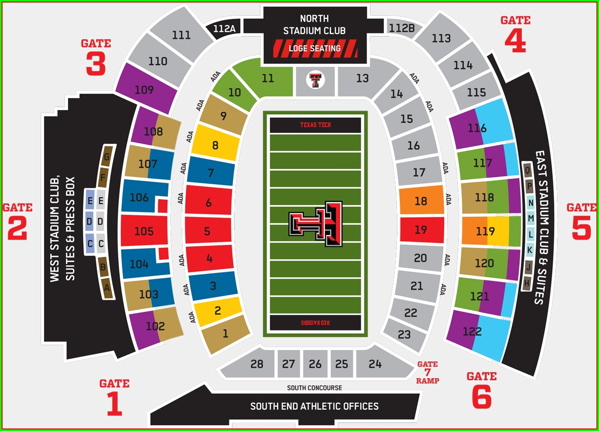 Jones Att Stadium Map