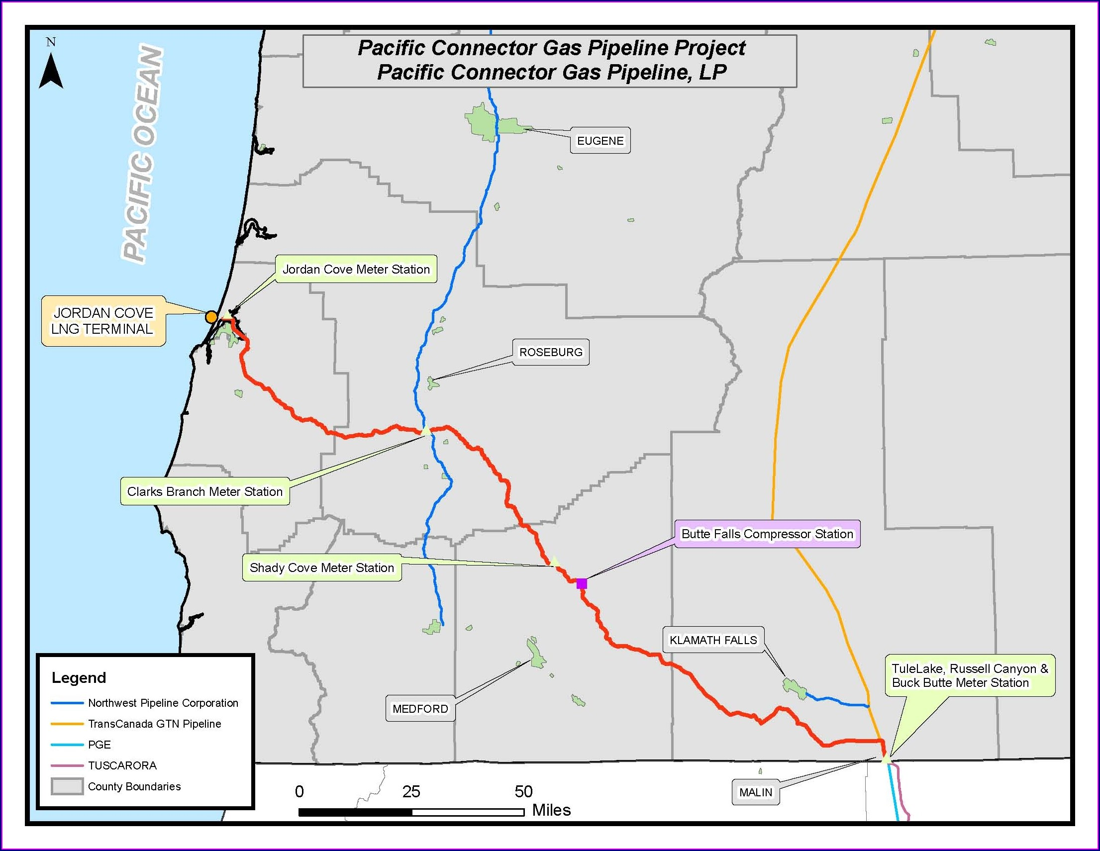 Jordan Cove Pipeline Map