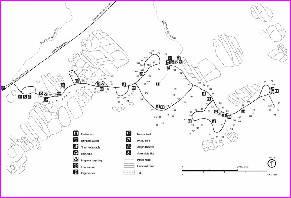 Joshua Tree Jumbo Rocks Campground Map