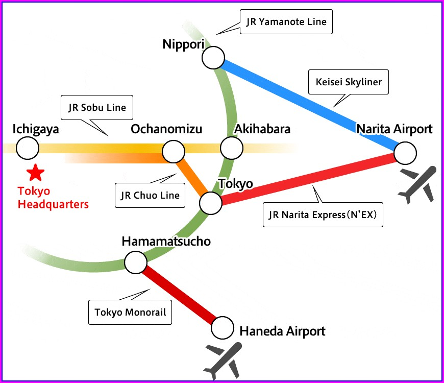 Jr Narita Express Map