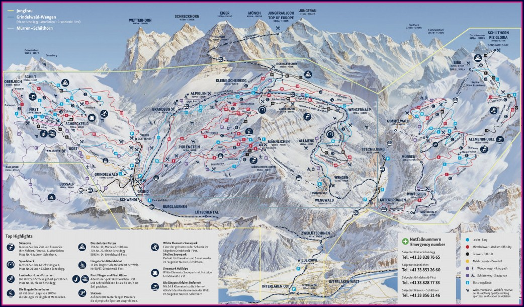 Jungfrau Region Train Map