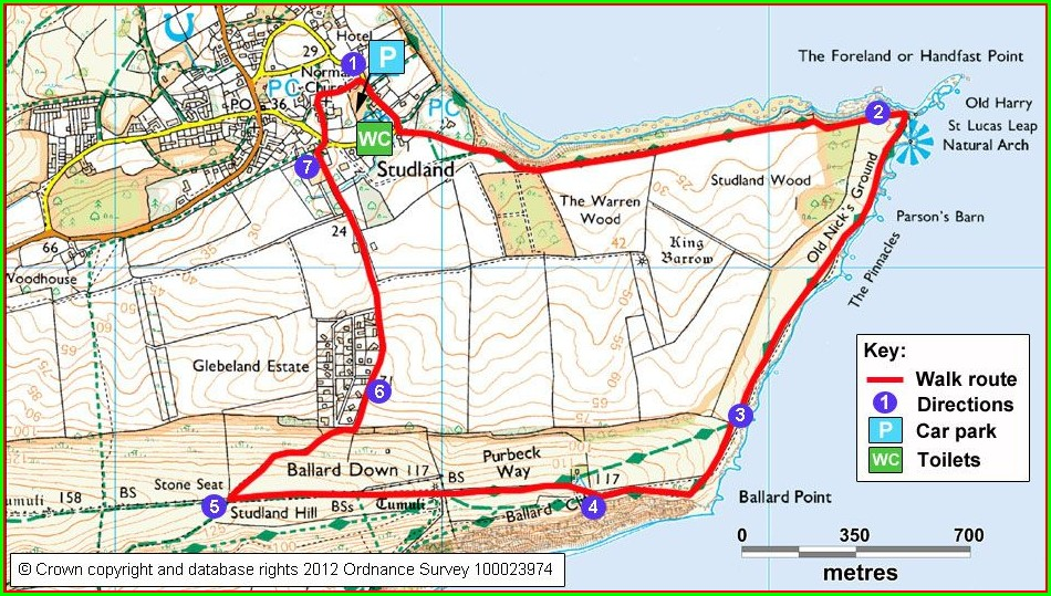 Jurassic Coast Walk Map