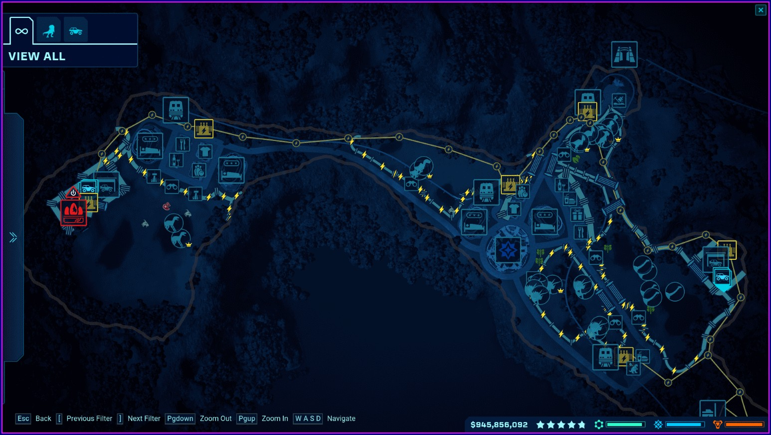 Jurassic World Evolution Isla Tacano Map