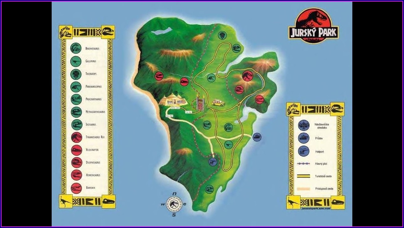 Jurassic World Evolution Map Isla Nublar