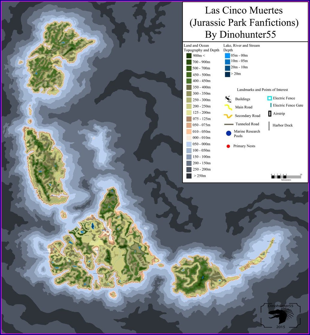 Jurassic World Evolution Map Size Comparison