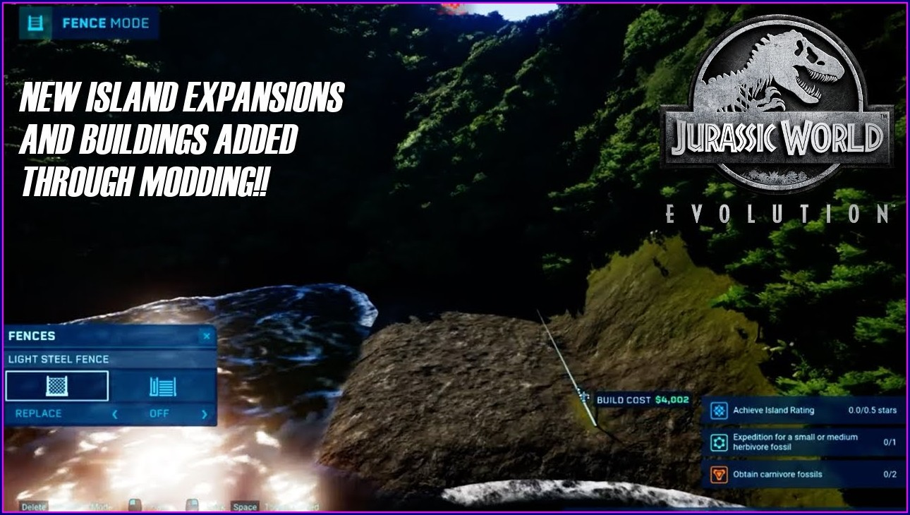 Jurassic World Evolution Map Size Mod